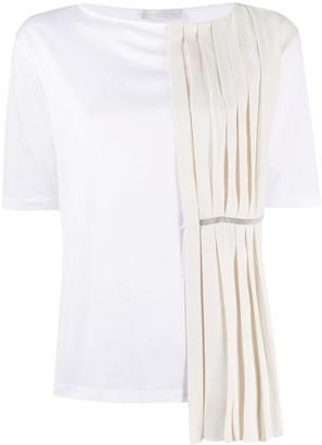 Fabiana Filippi pleated short-sleeve T-shirt