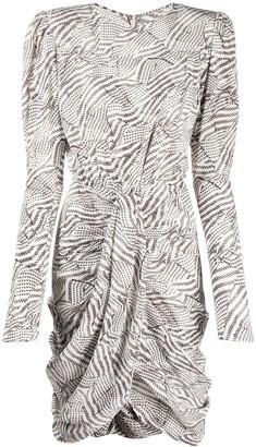 Isabel Marant Abstract Print Ruched Dress