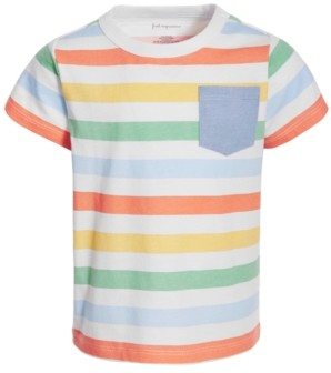 First Impressions Baby Boys Multicolor Striped Cotton T-Shirt, Created for Macy's