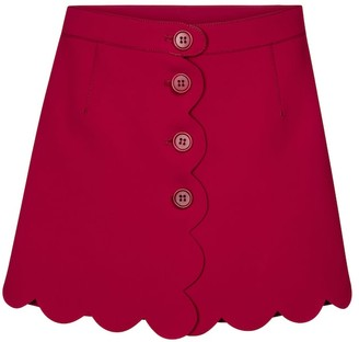 RED Valentino high-rise scalloped shorts