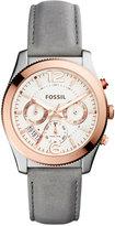 Fossil Women's Perfect Boyfriend Gray Leather Strap Watch 39mm ES4081