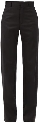 Vetements High-rise Wool-blend Trousers - Black