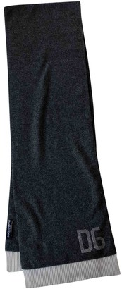 Dolce & Gabbana Anthracite Cashmere Scarves