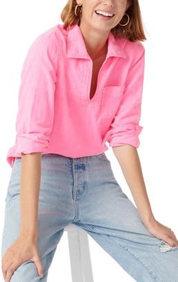 J.Crew Garment Dyed Denim Popover Shirt