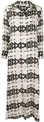 Jessie Western Geometric Print Shirt Dress