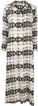 Jessie Western Geometric Print Shirt Dress