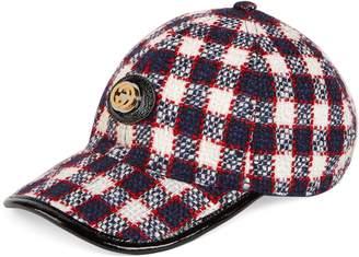 Gucci Tweed baseball hat