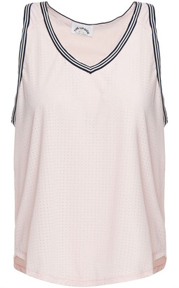 The Upside Lea Perforated Stretch-jersey Tank
