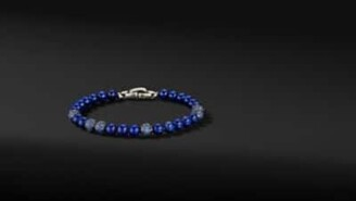 David Yurman Spiritual Beads Bracelet With Lapis And Sapphires