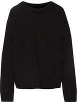 The Elder Statesman Appliquéd Cashmere Sweater - Black