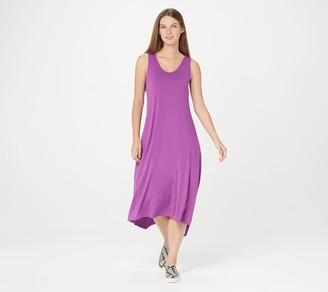 Logo by Lori Goldstein Rayon 230 Dress w/ Handkerchief Hi-Low Hem