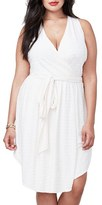 Rachel Roy Plus Size Women's Tie Waist Faux Wrap Dress