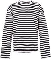 Juun.J striped text detail longsleeve top - men - Cotton - 48