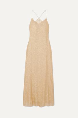 Marie France Van Damme - Silk And Lurex-blend Maxi Dress - Gold