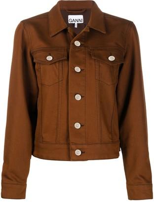 Ganni Button-Up Collared Jacket