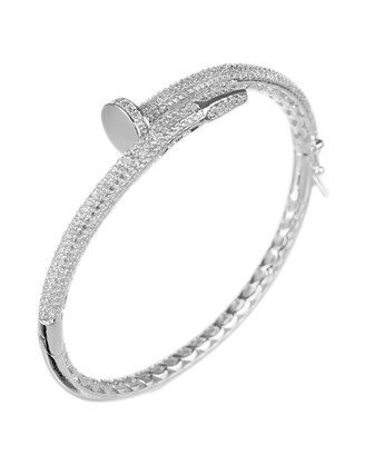 Kenneth Jay Lane Cz By Plated Bangle