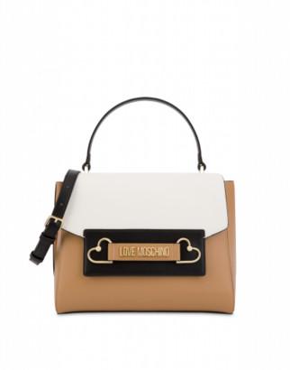 Love Moschino Handbag Metal Hearts Woman Brown Size U It - (one Size Us)