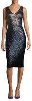 Rachel Roy Ombre Sequin Sheath Dress