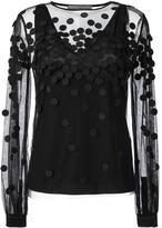 Sportmax dot appliqué sheer blouse