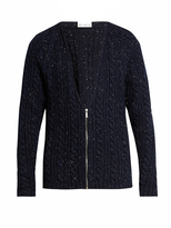 Raey Donegal-wool zip-through cardigan