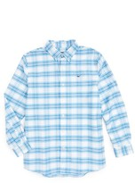 Vineyard Vines Boy's Terrace Plaid Oxford Whale Woven Shirt