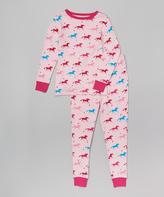 Pink Horses Pajama Set - Girls