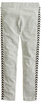 J.Crew Girls' everyday leggings in chevron glitter dot