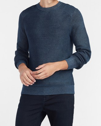 Express Ribbed Crew Neck Sweater