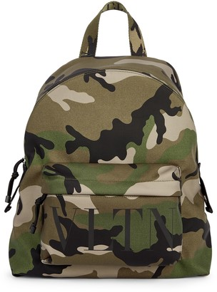 Valentino Garavani VLTN Camouflage Nylon Backpack