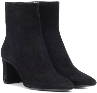 Saint Laurent Lou 70 suede ankle boots