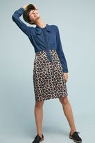 Maeve Nimah Leopard Pencil Skirt