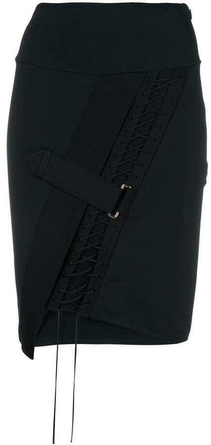Alexandre Vauthier fitted lace-up skirt