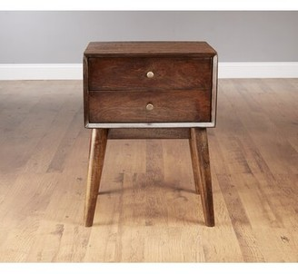 AA Importing Mid Century Style End Table Color: Pecan
