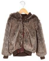 Catimini Girls' Faux Fur Hooded Coat