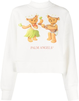 Palm Angels Teddy Bear Print Sweatshirt