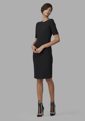 Giorgio Armani Mulberry Silk Sheath Dress