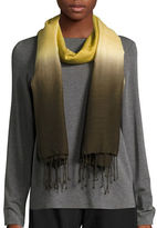 Eileen Fisher Fringed Silk-Blend Ombre Scarf