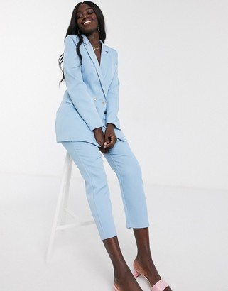 In The Style x Laura Jade tailored trouser co ord in blue