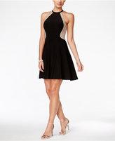Xscape Evenings Embellished Halter Fit & Flare Dress