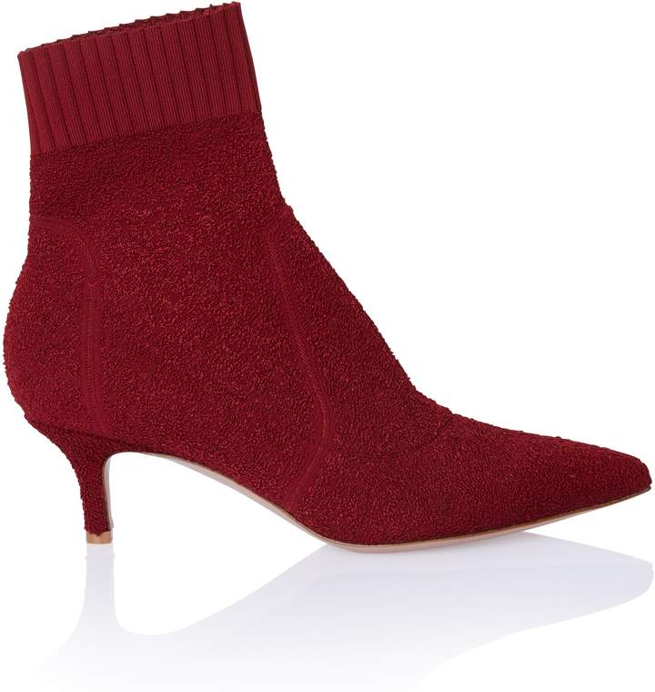 Gianvito Rossi Point Toe Boucle Sock Boot