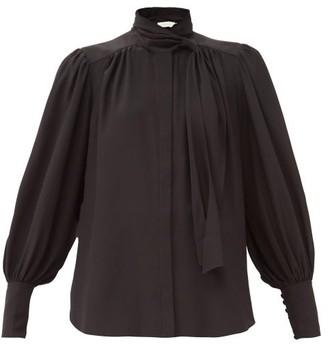 Zimmermann Pussy-bow Silk Blouse - Black