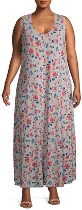 Rachel Roy Plus Floral Maxi Dress