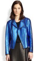 3.1 Phillip Lim Leather Boxy Moto Jacket