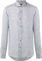Michael Kors chambray shirt - men - Linen/Flax - S