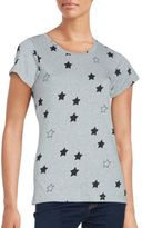 French Connection Star Print Cotton Tee