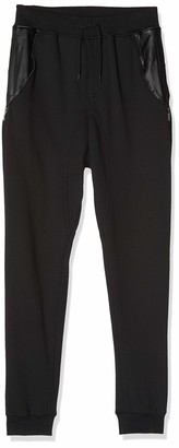 Urban Classics Men's Side Zip Leather Pocket Sweatpant Trousers