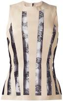 Christopher Kane striped lace embroidery blouse