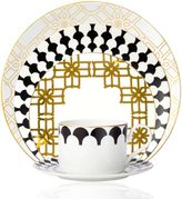 B by BrandieTM Corsica 5-Piece Place Setting in Black/Gold