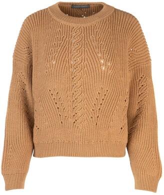 Alberta Ferretti Perforated Detail Sweater