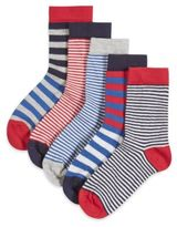 Marks and Spencer 5 Pairs of FreshfeetTM Cotton Rich Nautical Striped Socks (1-7 Years)